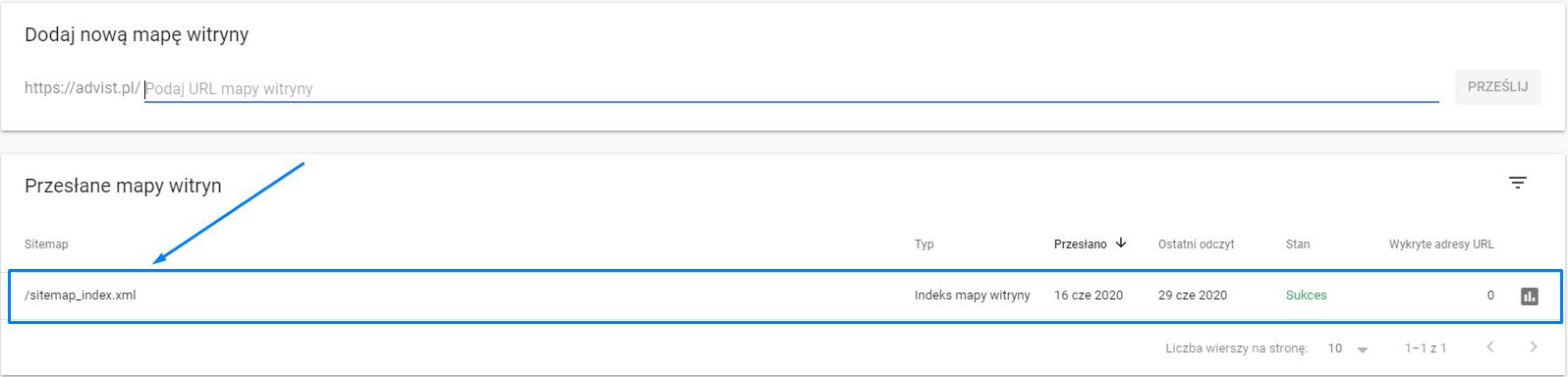 Dodawanie sitemapy w Google Search Console