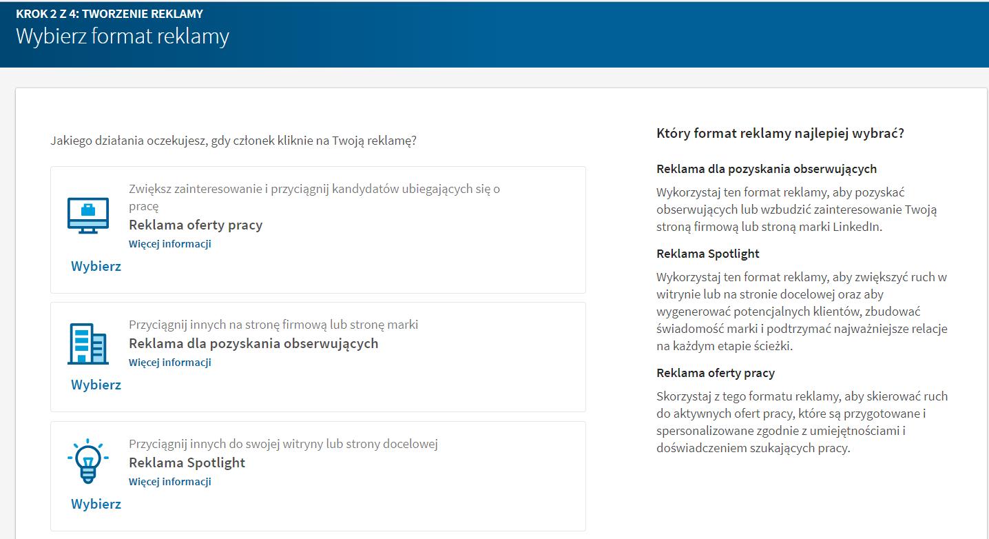 LinkedIn, reklamy dynamiczne