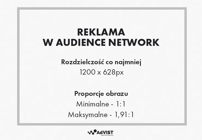 audience network wymiary