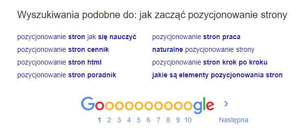 Jak zaczac pozycjonowanie strony Google