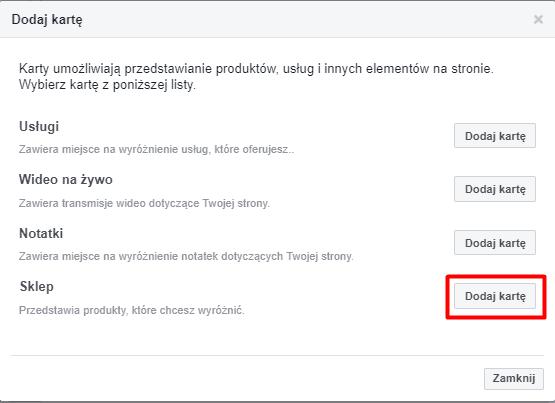jak założyć sklep na Facebooku