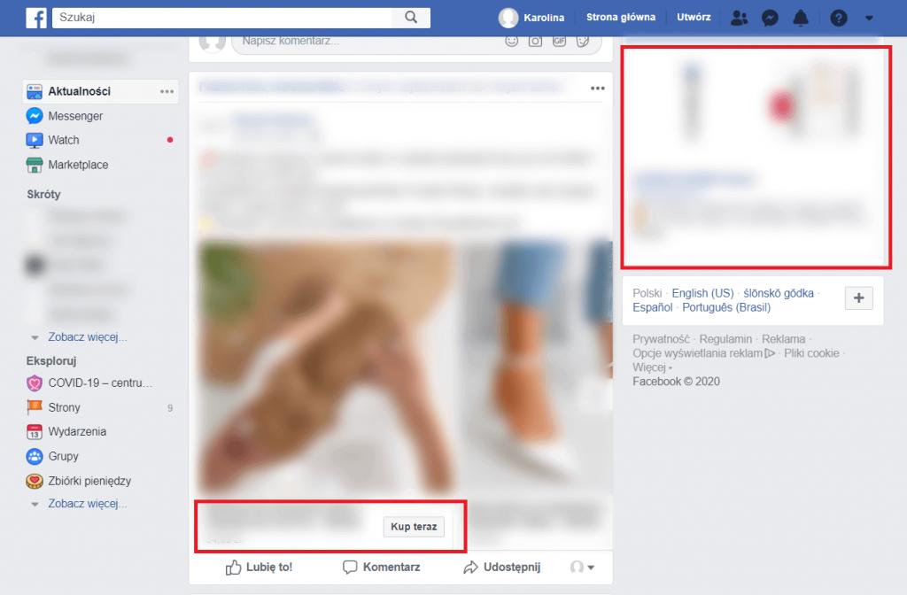 Wygląd Facebooka