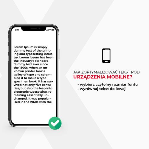 Optymalizacja tekstu pod urządzenia mobilne