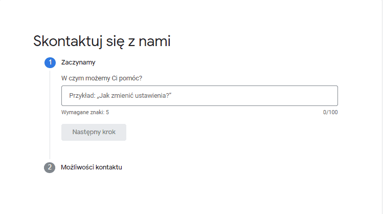 kontakt google