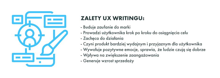 Tabela zalet UX writingu