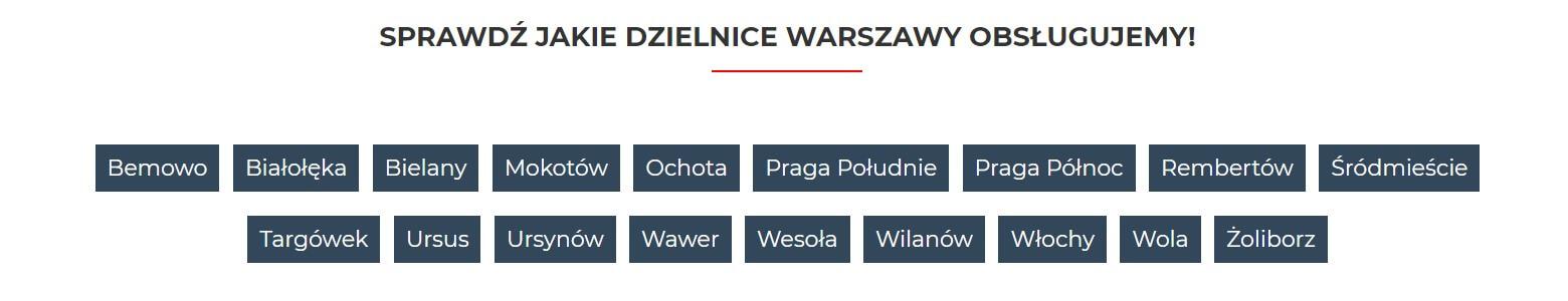 Dzielnice Warszawy - Skup aut