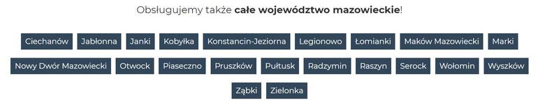 Województwo mazowieckie - podstrony